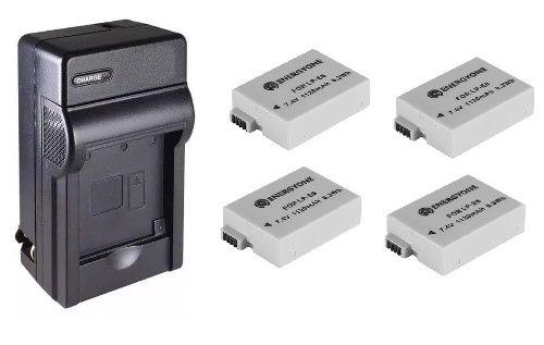 Kit Cargador + 4 Baterias Lp-e8 Para Canon T2 T2i T3i T5i