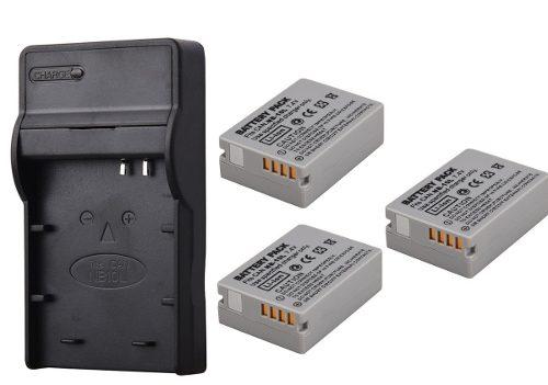 Kit Cargador Y 3 Baterías Para Canon Nb-10l Powershot