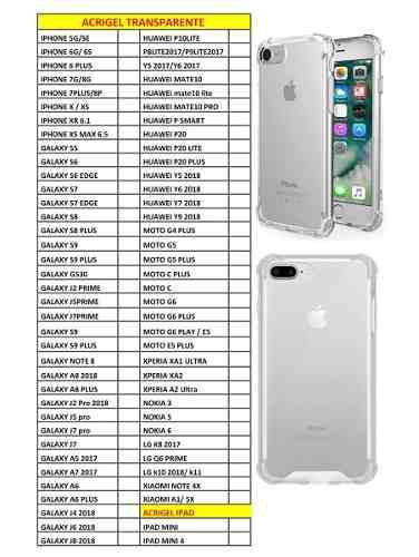 Lote 30 Acrigel Uso Rudo Iphone 5 6 7 8 Plus X Xr Xs Max