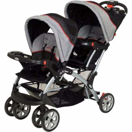 Carreola Doble Gemelar Baby Trend Plegable 2 Bebes Reclinabl