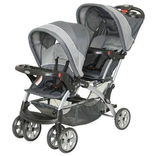 Carriola Bebe Doble Baby Trend Gemela Sit N Stand Reclinable