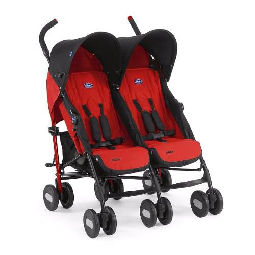 Carriola Bebe Doble Marca Chicco Echo Twin Ligera Reclinable