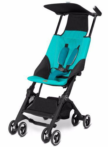 Carriola Bebe Pockit Gb Plus Reclinable Compacta Ligera Azul