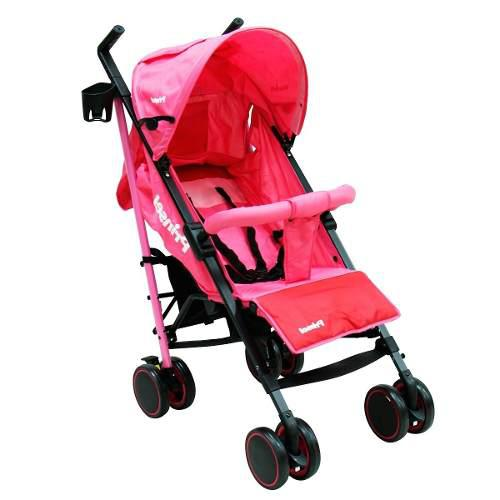 Carriola De Baston Bebe Prinsel Clap Ligera Reclinable Rosa
