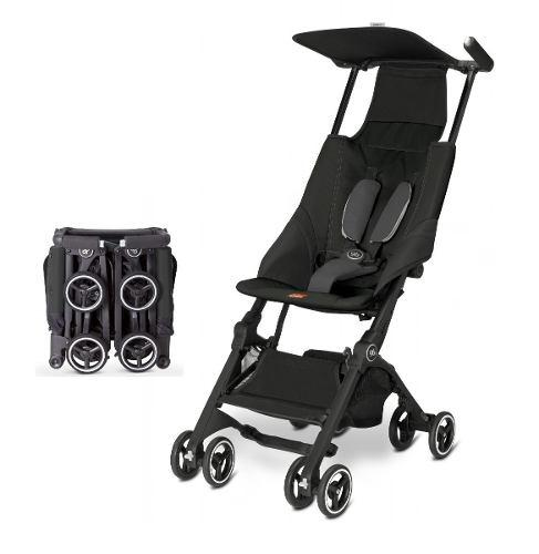 Carriola De Bebe Pockit Gb Plus Reclinable Ligera Negra