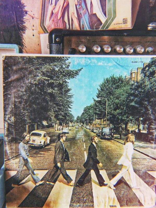 Disco vinilo LP acetato 33 rpm The Beatles Abbey road