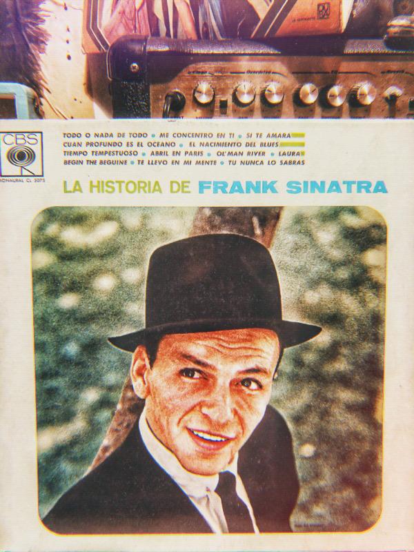 Disco vinilo LP acetato 33 rpm la historia de Frank Sinatra