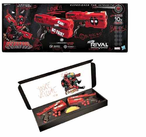 Nerf Rival Deadpool Nueva Kronos Xvii- Pack De Hasbro