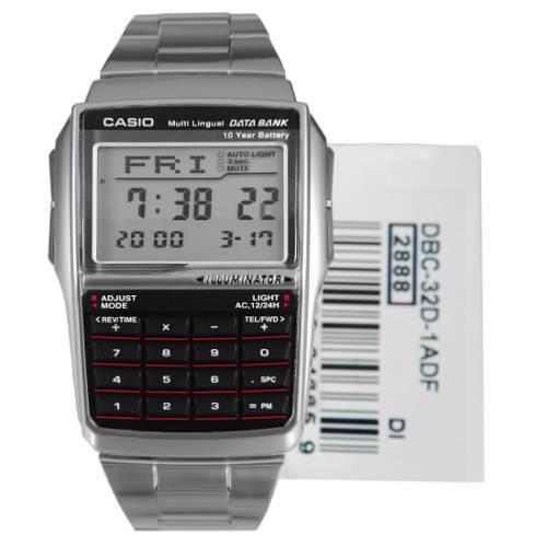 Reloj Caballero Casio Vintage Dbc32 Metal Calculadora Sj