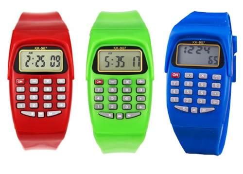 Reloj Calculadora Silicón Digital