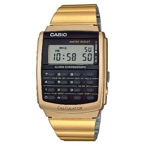 Reloj Casio Calculadora Dorado Vintage 596g Nuevo Ven.nom