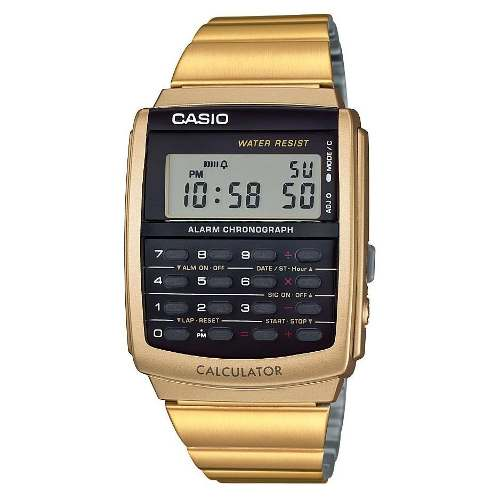 Reloj Casio Retro Vintage Ca506 Dorado- Calculadora - Cfmx