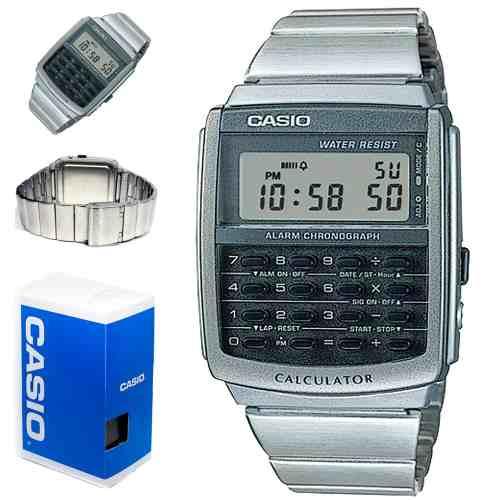 Reloj Casio Unisex, Ca 506, Metal, Calculadora, Envio Gratis