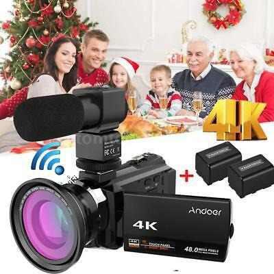 Andoer 4k 1080p 48mp Wifi Cámara Vídeo Digital