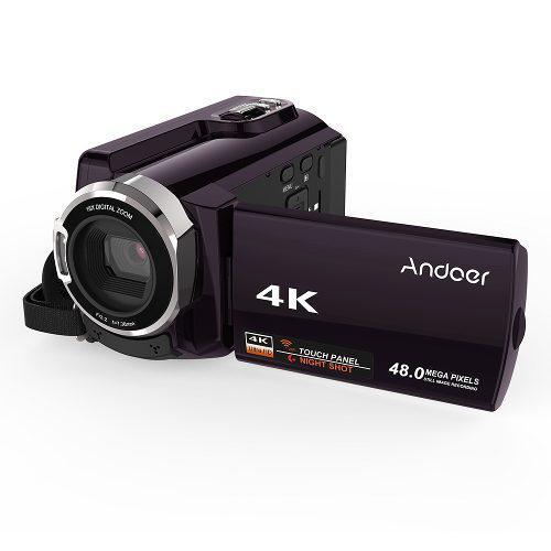 Andoer Hdv-534k 4k 48mp Wifi Cámara Vídeo Digital 1080p Co