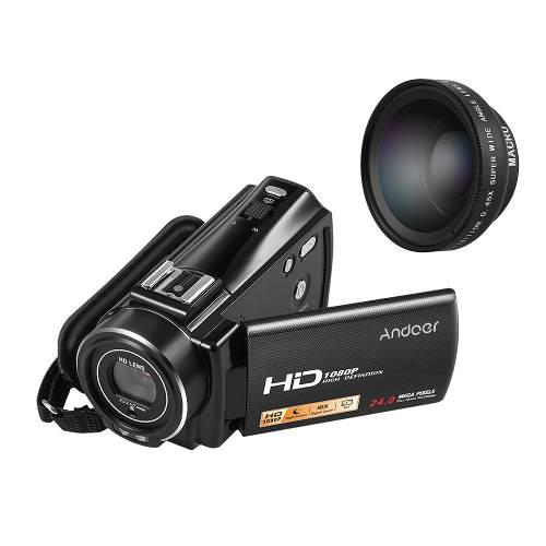Andoer Hdv-v7 Plus 1080p Completo Hd 24mp Vídeo Digital Por