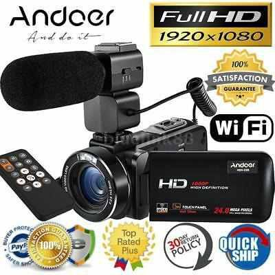 Andoer Hdv-z20 Full Hd 1080p 24mp Cámara Vídeo Digital