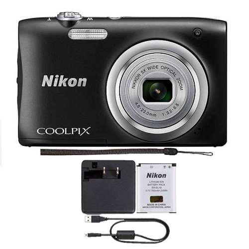 Camara Nikon Coolpix A100 5x 20mp Zoom Optico (negro)