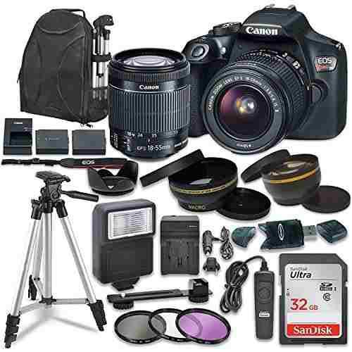 Cámara Dslr Canon Eos Rebel T6 Kit Accesorios Lente 18 55mm