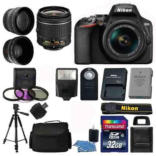 Kit Completo De Camara Nikon D3500 18-55 + 24 Artículos