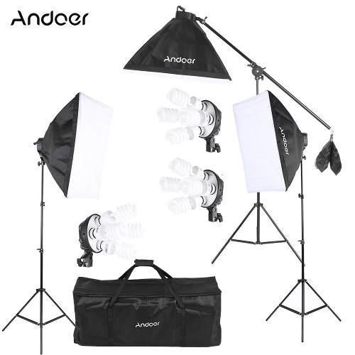 Kit De Fotografia Para Estudio Profesional Softbox Bulbos
