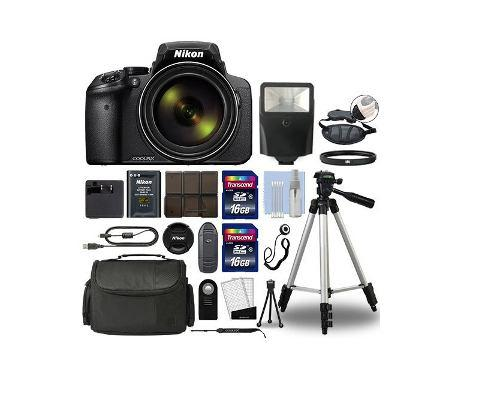 Kit Nikon Coolpix P900 Digital, 83x Optical Zoom Wi-fi, 32gb