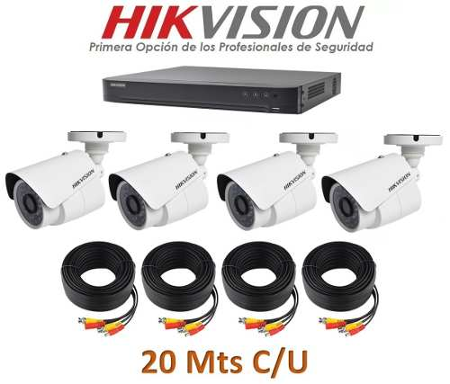Kit Video Vigilancia 4 Cámaras Hd p Cctv Hikvision