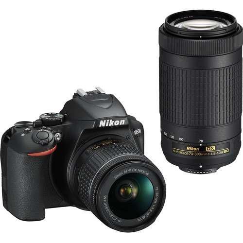 Nikon Nikon D3500 Afp 18-55 Vr/af-p 70-300mm Vr + Tripie + S