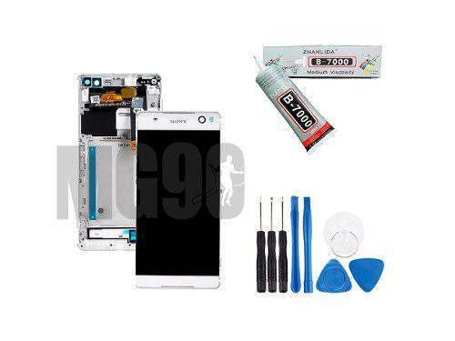 Pantalla Sony Xperia C5 Ultra Negro Y Blanco C/marco E5506