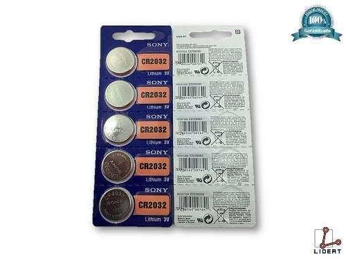 Paquete De 5 Pilas Para Reloj Marca Sony Cr2032 Lithium 3v