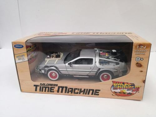 Time Machine De Lorean Volver Al Futuro 3 De Metal 1:24