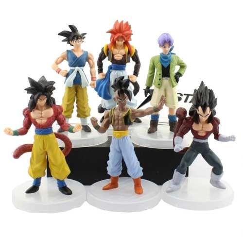 Colección Set 6 Figuras Dragon Ball Goku Y + Envio