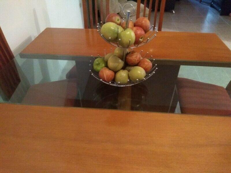 Comedor ocho sillas madera