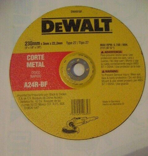 "Disc 9"" Premium Dewalt pa corte d Metal uso rudo"
