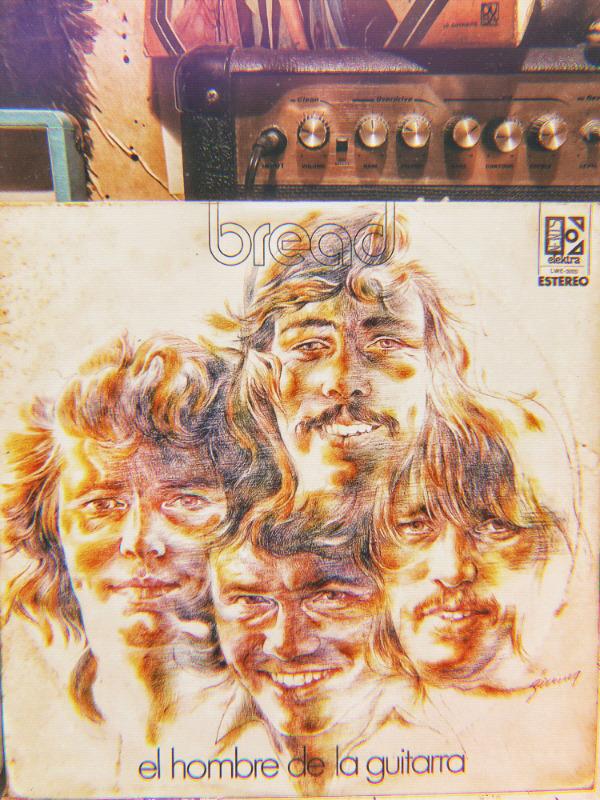Disco LP vinil acetato 33 rpm bread El hombre de la guitarra