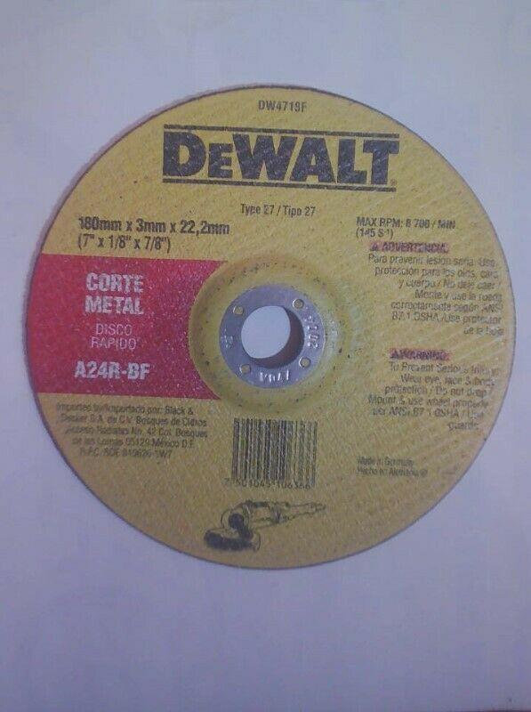 "Disco Premium Dewalt de corte de Metal 7"""