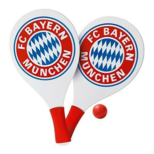 FC BAYERN MUNCHEN RAQUETAS DE PLAYA DE MADERA UEFA CHAMPIONS