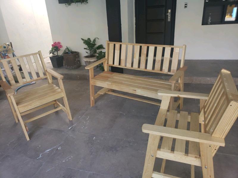 Sala de madera rustica