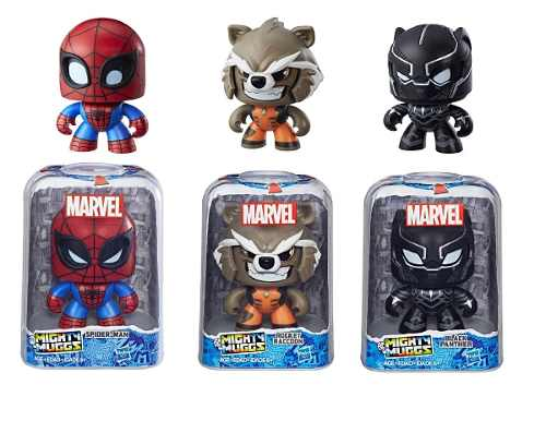 Spider Man Rocket Black Panther Mighty Muggs Set Con 3