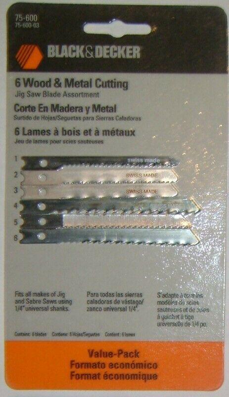 6 seguetas variadas, p/ sierra caladora, Suizas