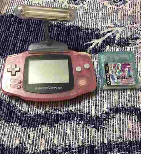 Game Boy Advance Gba Con Pokemon Crystal Y Lampara