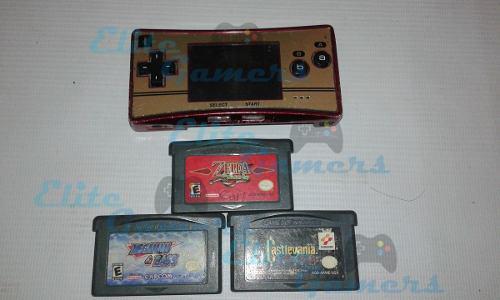 Gameboy Micro Famicom 3 Juegos Zelda Minish Cap, Castlevania