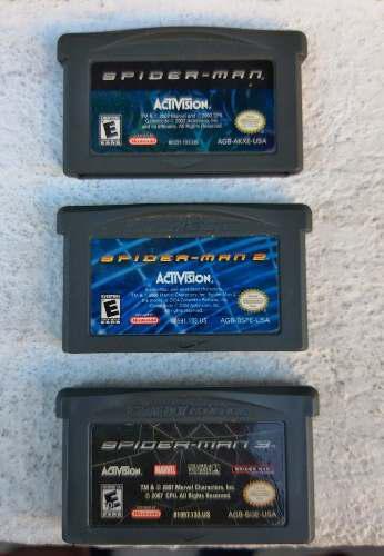 Juegos Spider-man Game Boy Advance Colección Funcionando
