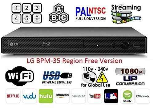 Lg-35 Bpm Región Libre De Blu-ray, Región Multi Elegante