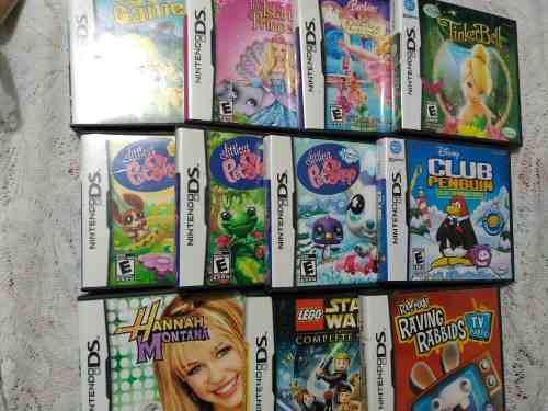 Lote De 11 Juegos Para Nintendo Ds (lego,barbi,tinker Bell)