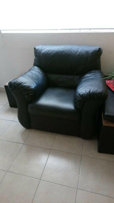 Sala 2 Piezas - Sofá individual y Love Seat de vinipiel