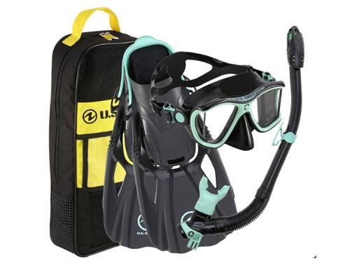 Us Divers Set De Snorkel / Buceo Para Adulto Go Pro Ready!
