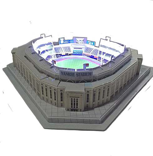 Yankees Rompecabezas 3d Y Kit De Luz Led Beisbol Mlb