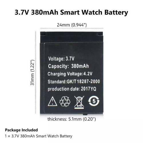 Batería Universal Reloj Smartwach Dz09 A1 Gt08 V8 - T1580