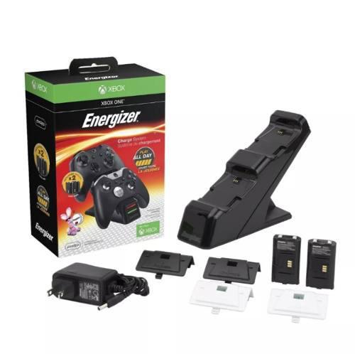 Energizer Cargador 2 Baterias Y Tapas Para Xbox One